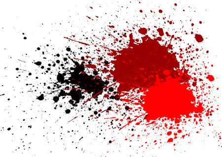 abstract splatter blood red black color background