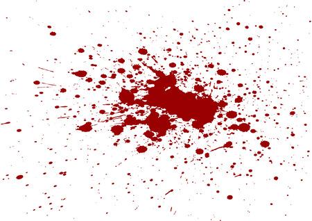 paint drop: vector blood splatter isolated Illustration