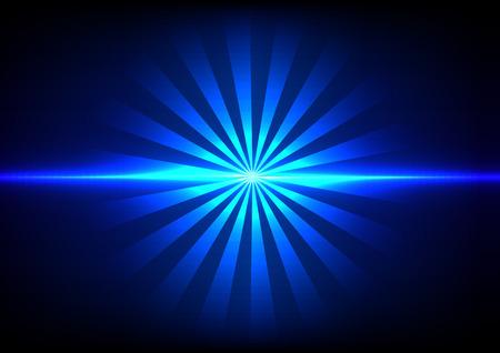 abstract blue light sunlight effect background Vector