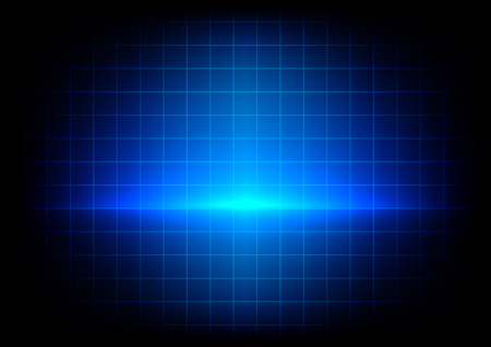 absract: absract blue lighting and table on blue background