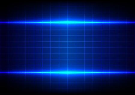 absract: absract illuminazione blu e tavolo su sfondo blu Vettoriali