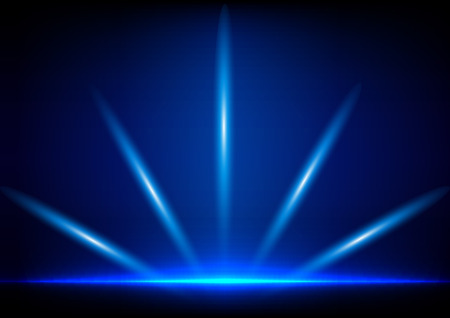 absract: illuminazione absract su sfondo blu Vettoriali