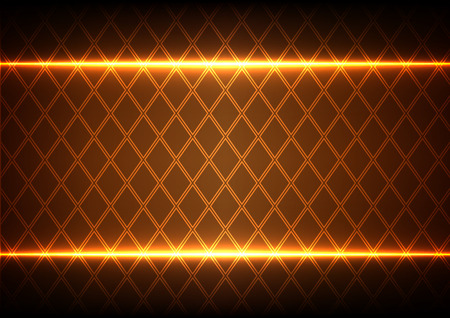 abstract Square and light on brown  background