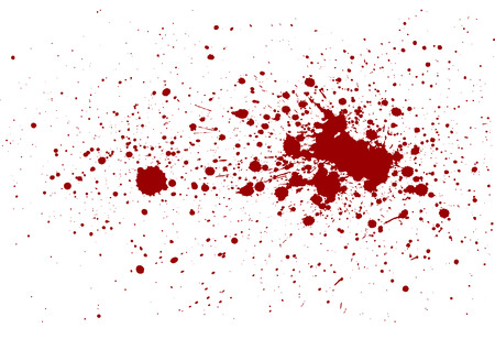 abstract splatter red color isolate Illustration