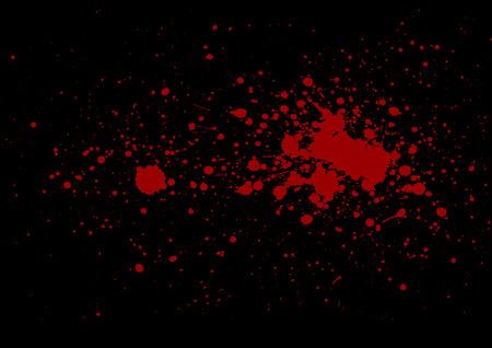 abstract splatter red on black color background