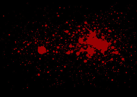 abstract splatter red on black color background