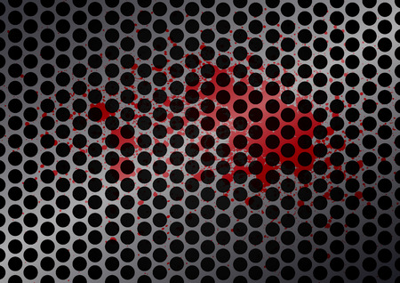 netty: Vector cell metal with splatter red color background