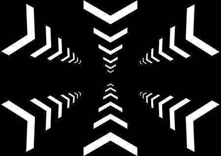 multi: Vector multi arrow on black color background Illustration
