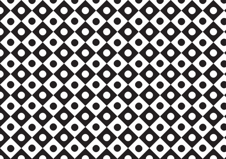 trapezoid: vector trapezoid with circle pattern  black and white color Illustration