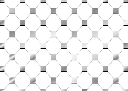 diamondplate: steel net square plate texture isolate background Illustration