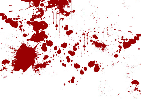 blood stain: vector red abstract brush stroke and splatter background Illustration