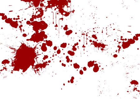 vector rode abstracte penseelstreek en splatter achtergrond