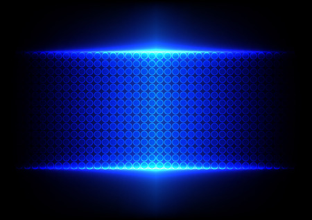 Abstract blue dot technology background
