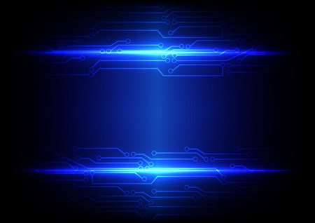 Abstract blue light with circuit line technology