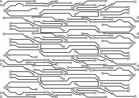 isolar: Vetor da placa de circuito fundo do isolado