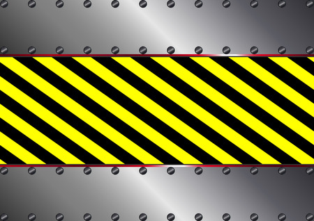 tread plate: metallic background with yellow and black stripes