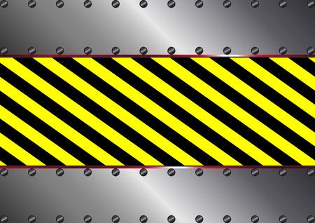 metallic background: metallic background with yellow and black stripes