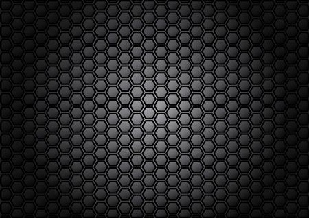 abstract patroon zeshoek op een grijze achtergrond kleur Stock Illustratie