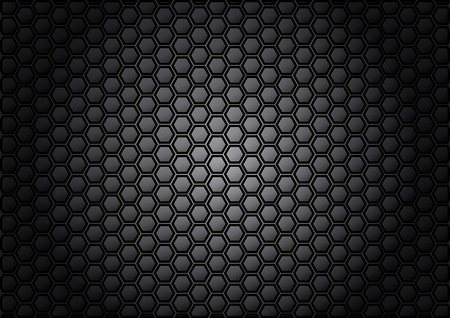 abstract pattern hexagon  on gray color background