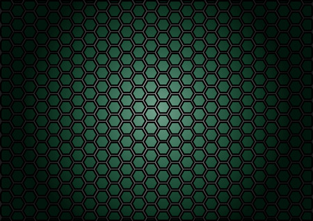 cf: abstract pattern hexagon  on green color background Illustration