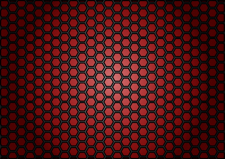 cf: abstract pattern hexagon  on red color background