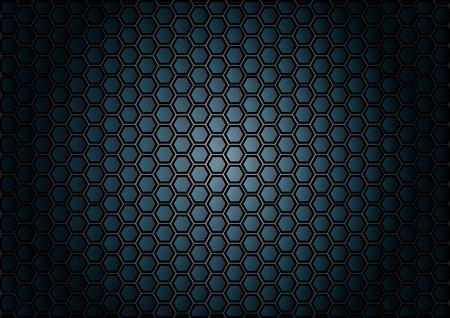 abstract patroon zeshoek op een blauwe achtergrond