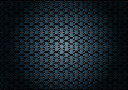 abstract pattern hexagon  on blue background