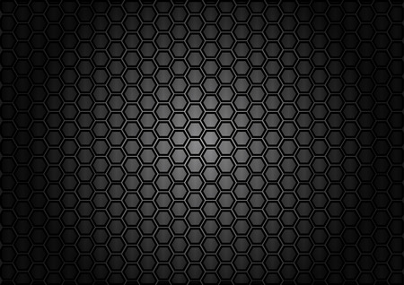 cf: abstract pattern hexagon  on carbon color background Illustration