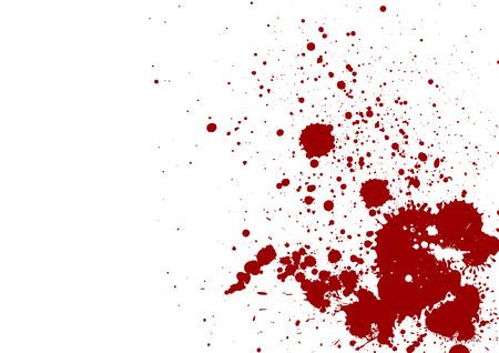 salpicaduras de color rojo oscuro sobre fondo blanco. Ilustración del vector. Fondo de Grunge