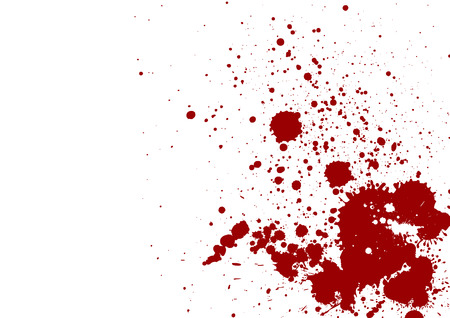 dark red splash on white background. Vector illustration. Grunge background Archivio Fotografico
