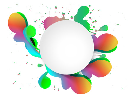 splat: Vector multicolor splat and a frame background Stock Photo
