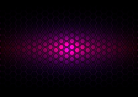 cf: abstract pattern hexagon  on dark purple color background