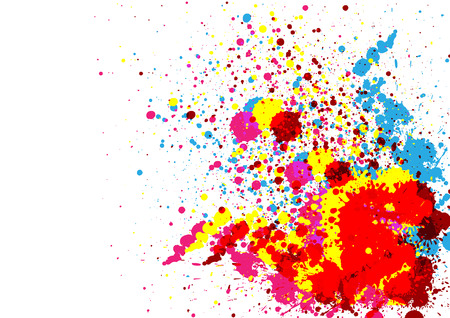 joyfulness: Abstract  paint color and splatter color background