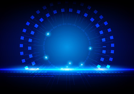 abstract technology blue light concept
