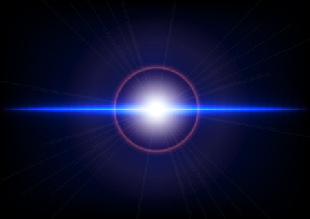 abstract blauw licht en flare effect achtergrond