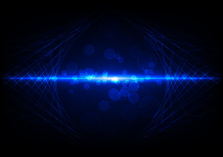 blue circles: Blue Abstract Mesh Background with Circles background Illustration