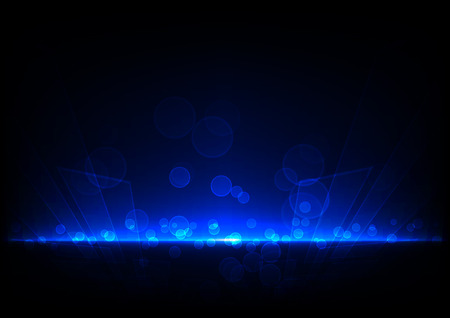 dark blue background: abstract blue light technology concept with bokeh background