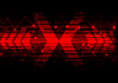pijl samenvatting technologie op de rode pijl-concept