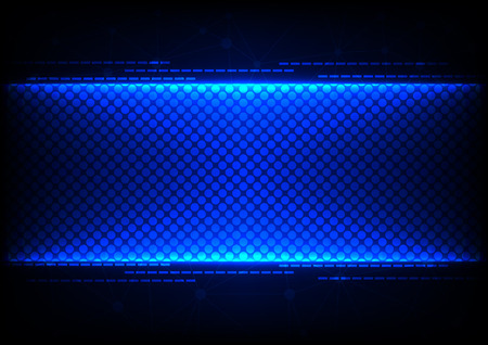 abstract  technology blue concept design  background Illustration