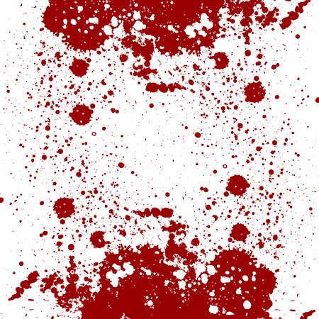 Vector splatter design. splatter red color on isolate background