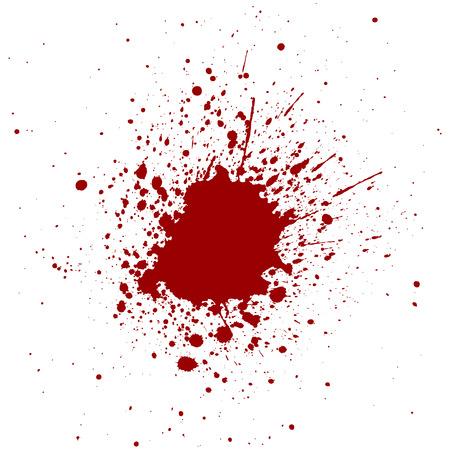 CLaboussures abstraite couleur rouge fond Banque d'images - 43622161