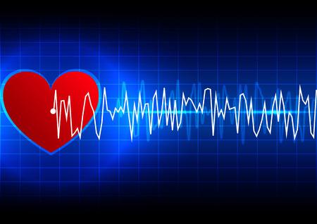 ekg: abstract heart rhythm ekg technology background