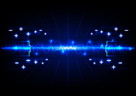 abstract batterij verlichting energietechnologie achtergrond