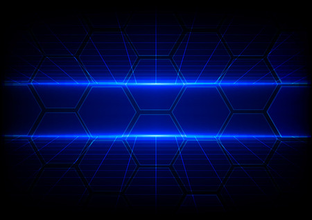 Abstract technology background with grid concept