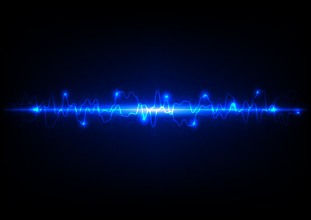 Abstract light blue technology background Illustration