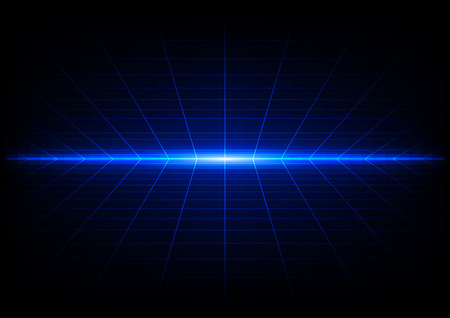 abstract grids on blue light background Vettoriali