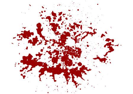 abstract splatter rode kleur achtergrond, illustratie isoleer