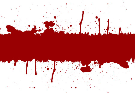 Abstract red ink splatter background element with a space.illustration vector Vettoriali