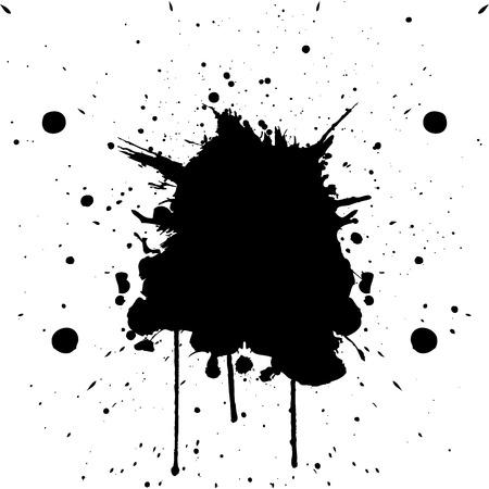 inkblot: Vector black color splatter.illustration vector Illustration