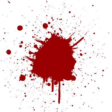 blood stain: Vector splatter red color background.illustration vector